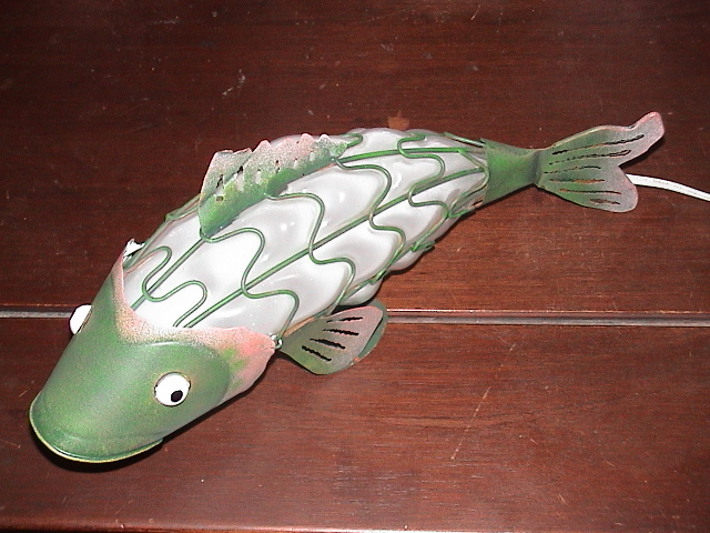 Metal and Glass Fish Night Light.